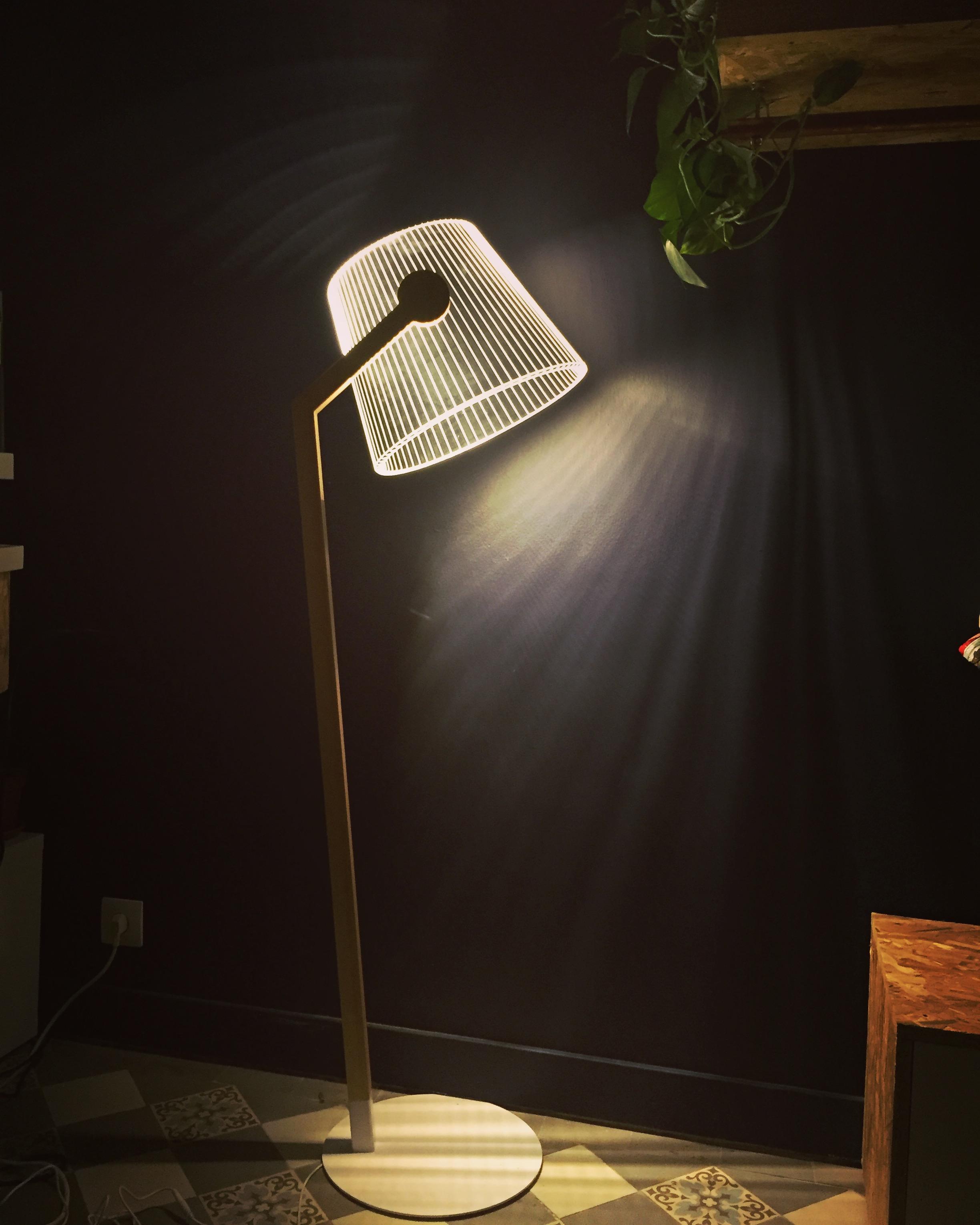 LAMPADAIRE 2D IMPRESSION 3D
