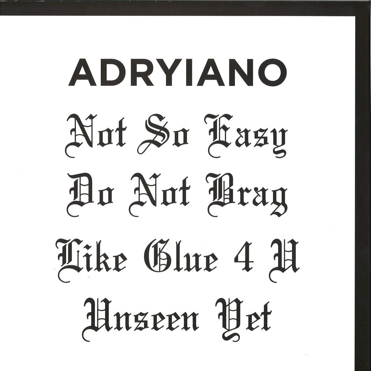 ADRYIANO-NOT SO EASY