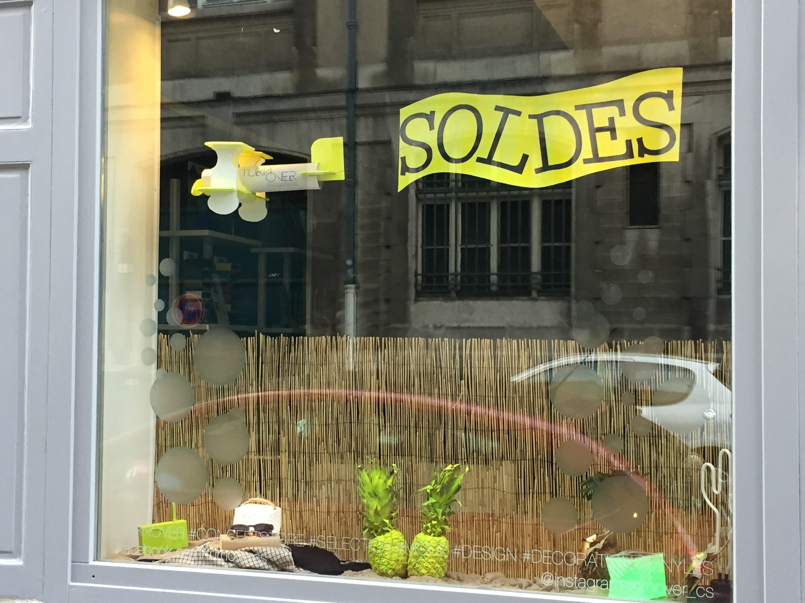 vitrine juillet soldes 2017 plage turnover concept store nancy france