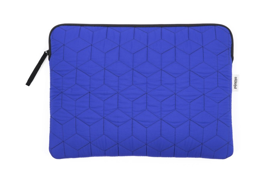 ZIP CASE QUILTED BLUE